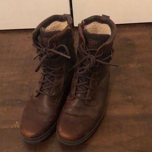 Barely worn leather Kesey waterproof UGG boots